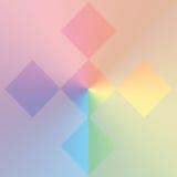 De vormenachtergrond van de pastelkleur Royalty-vrije Stock Foto