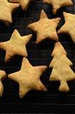 De Vormenselectie van het Kerstmiskoekje bij het Koelen van Rek Stock Foto