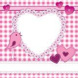 De vormframe van het hart in een plakboekstijl Royalty-vrije Stock Afbeeldingen