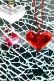 De vormhalfedelsteen van het hart Stock Afbeeldingen