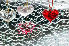 De vormhalfedelsteen van het hart Royalty-vrije Stock Foto