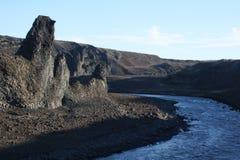 De vorming van de basaltrots, Jokulsa-Canion Royalty-vrije Stock Fotografie
