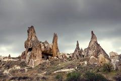 De vorming van de Cappadociarots in Goreme Royalty-vrije Stock Afbeelding