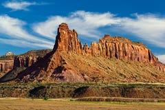 De vorming van de rots bij zonsondergang Stock Foto's
