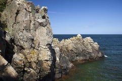 De vorming van de rots. Bornholms, Denemarken. Stock Afbeeldingen