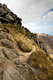 De vorming van de rots op Goatfell royalty-vrije stock foto's