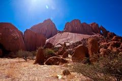 De vorming van de rots in Spitzkoppe, Namibië Stock Foto