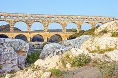 De Vorming van de steen in Pont du Gard Royalty-vrije Stock Afbeelding
