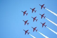 De vorming van de vliegtuigenvertoning Stock Foto