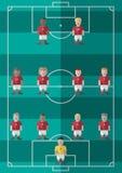 De vorming van de voetbalstrategie Stock Fotografie