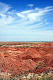 De vorming van de wolk over geschilderde Woestijn Stock Fotografie