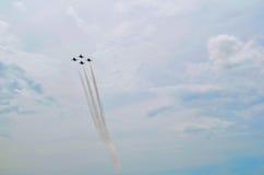 De Vorming van Luchtmachtthunderbirds - 4 Vliegtuigen Royalty-vrije Stock Afbeelding