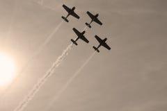 De vorming van vliegtuigen Royalty-vrije Stock Fotografie