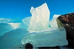 De vormingen van de ijsberg op meer Royalty-vrije Stock Foto