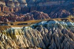 De vormingen van de rots in Cappadocia Stock Foto's
