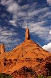 De vormingen van de rots in de kreek van het Kasteel, Utah Stock Foto's