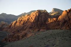 De Vormingen van de rots in de Rode Canion van de Rots stock foto