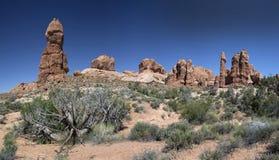 De Vormingen van de rots in het Nationale Park van Bogen Royalty-vrije Stock Fotografie