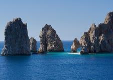 De vormingen van de rots met inbegrip van Gr Arco Stock Foto