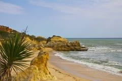 De vormingen van de rots op de Algarve kust Royalty-vrije Stock Afbeelding