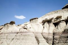 De vormingen van de rots in woestijn stock fotografie