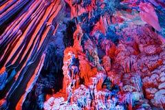 De Vormingen van de stalactiet en van de Stalagmiet Stock Afbeelding