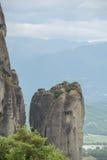 De vormingen van de zandsteenrots Meteora, Griekenland Stock Afbeeldingen