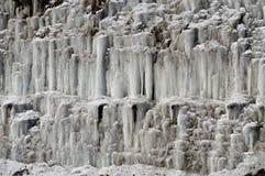 De Vormingen van het ijs Stock Foto