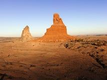 De vormingen van het land in de woestijn van Arizona. Stock Afbeeldingen