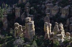 De Vormingen van de ongeluksboderots in het Nationale Monument van Chiricahua royalty-vrije stock foto