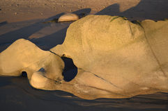 De vormingslaguna beach van de oeverrots, Californië royalty-vrije stock foto