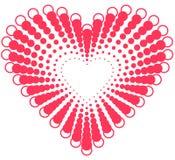 De vormontwerp van het hart voor liefdesymbolen Royalty-vrije Stock Fotografie