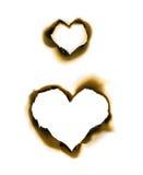 De vormperkament van het hart stock foto's