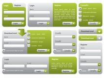 De vormreeks van Webpage Stock Afbeeldingen