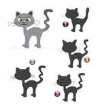 De vormspel van Halloween: de kat Stock Afbeeldingen