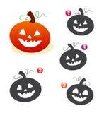 De vormspel van Halloween: de pompoen Royalty-vrije Stock Afbeeldingen