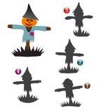 De vormspel van Halloween: de vogelverschrikker Royalty-vrije Stock Afbeeldingen