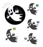 De vormspel van Halloween: het spook Stock Foto
