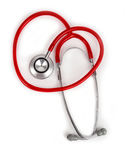 Rode stethoscoop Stock Afbeeldingen