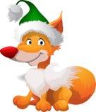 De vos van het beeldverhaal in hoed royalty-vrije illustratie