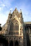 De Votive Kerk (Votivkirche) is neogotisch kerk gevestigd o Royalty-vrije Stock Afbeeldingen
