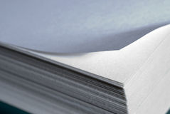 De vouwen van het document. Stock Afbeelding