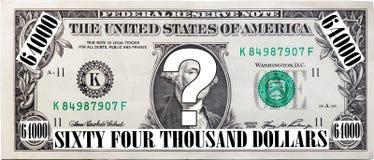 De Vraag van 64 duizend Dollars Stock Foto