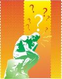 De Vraag van de denker Stock Foto's