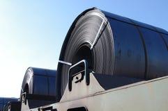 De Vracht van de Rol van het staal Stock Foto's