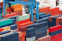 De vrachtcontainers van de lading Royalty-vrije Stock Afbeelding