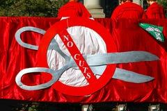 De Vrachtwagen en de Banners van de Unie PSAC Stock Fotografie