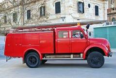 De Vrachtwagen van brandweerlieden Royalty-vrije Stock Foto's