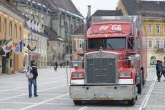 De vrachtwagen van cokeskerstmis Royalty-vrije Stock Afbeelding