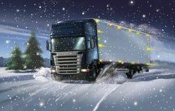 De vrachtwagen van Cristmas Stock Foto's